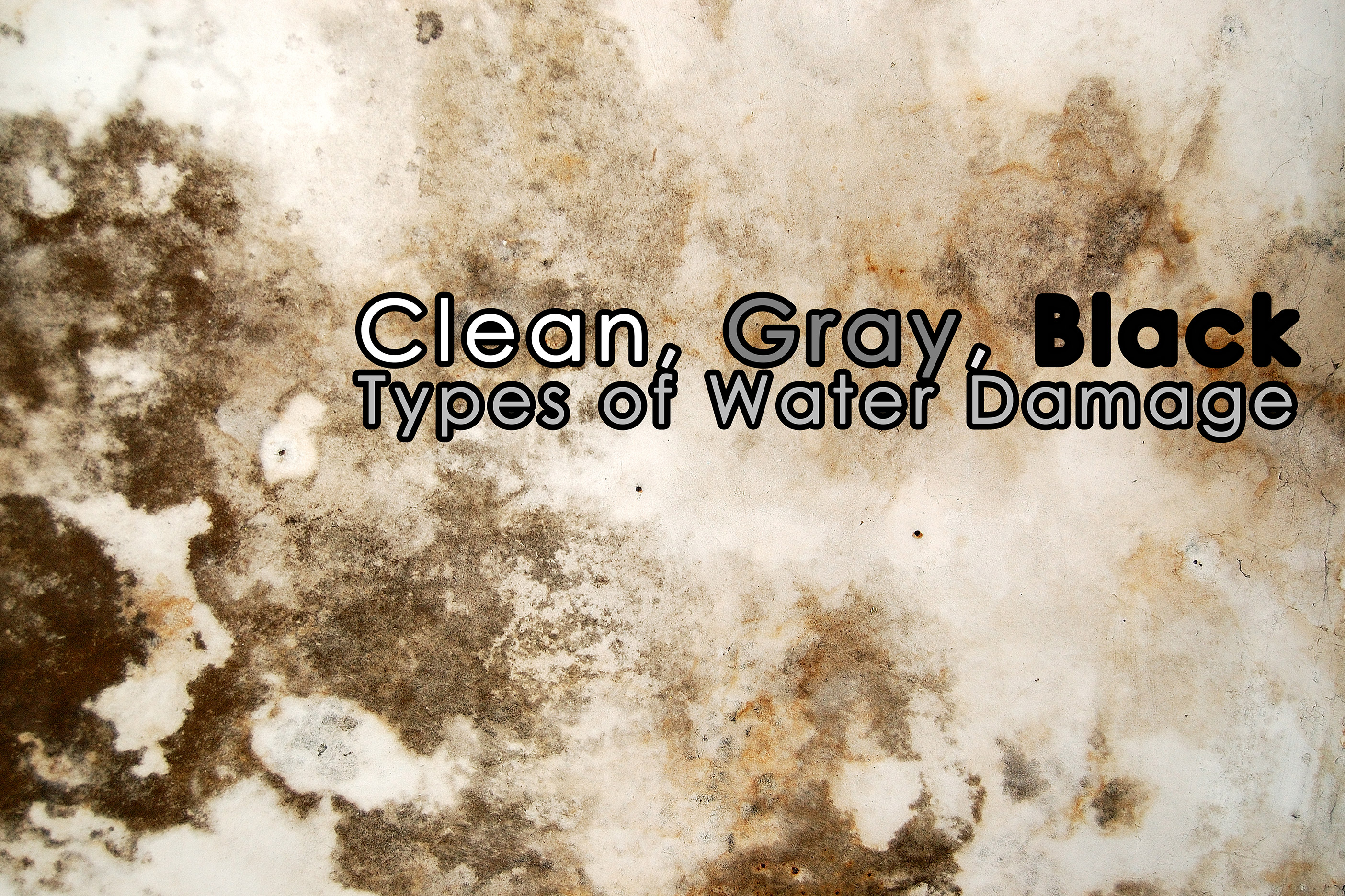 Clean, Gray, Black Types of Water Damage_