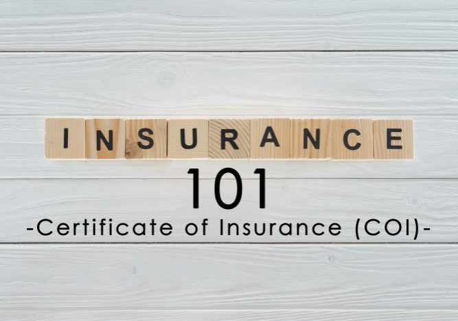 Insurance Term of the Day - Certificate of Insurance